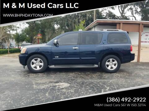 2006 Nissan Armada for sale at M & M Used Cars LLC in Daytona Beach FL