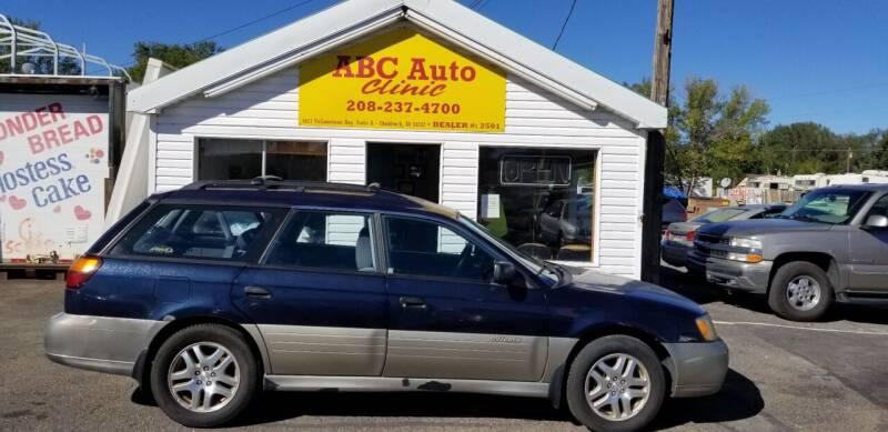 2002 Subaru Outback for sale at ABC AUTO CLINIC - Chubbuck in Chubbuck ID