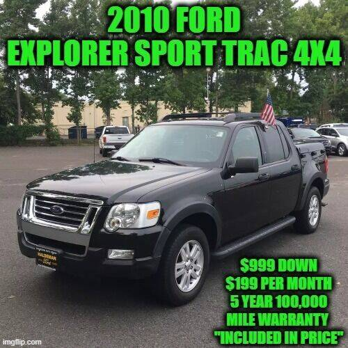 2010 Ford Explorer Sport Trac for sale at D&D Auto Sales, LLC in Rowley MA