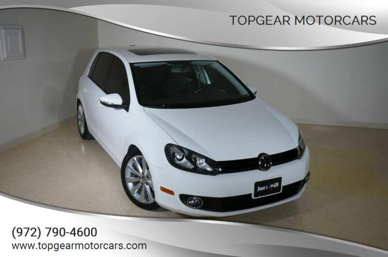 2013 Volkswagen Golf for sale at TopGear Motorcars in Grand Prairie TX