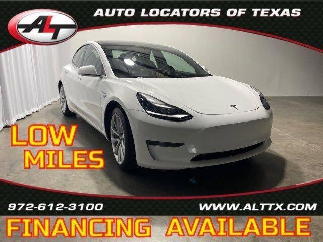 2020 Tesla Model 3 for sale at AUTO LOCATORS OF TEXAS in Plano TX