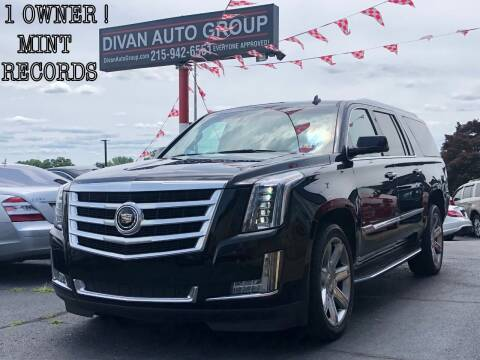 2015 Cadillac Escalade ESV for sale at Divan Auto Group in Feasterville PA