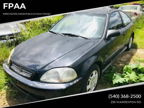1997 Honda Civic for sale at FPAA in Fredericksburg VA