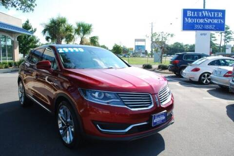 2016 Lincoln MKX for sale at BlueWater MotorSports in Wilmington NC