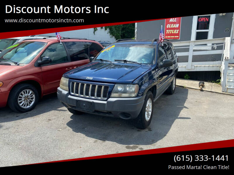 2004 Jeep Grand Cherokee for sale at Discount Motors Inc in Nashville TN