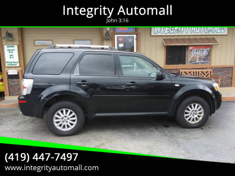 2009 Mercury Mariner for sale at Integrity Automall in Tiffin OH