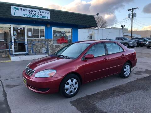 2008 Toyota Corolla for sale at Island Auto Sales in Colorado Springs CO