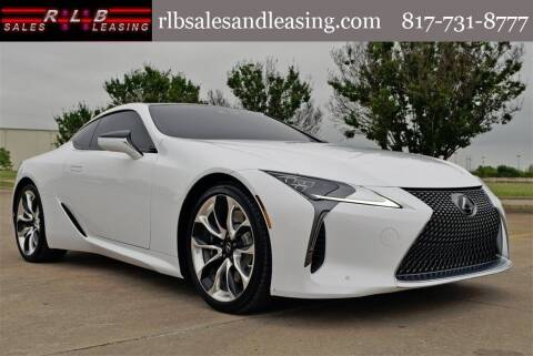 2021 Lexus LC 500 for sale at RLB Sales and Leasing in Fort Worth TX