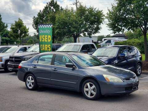 2005 Honda Accord for sale at M & M Auto Brokers in Chantilly VA