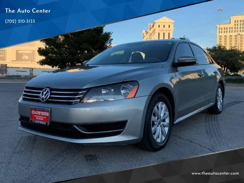 2013 Volkswagen Passat for sale at The Auto Center in Las Vegas NV
