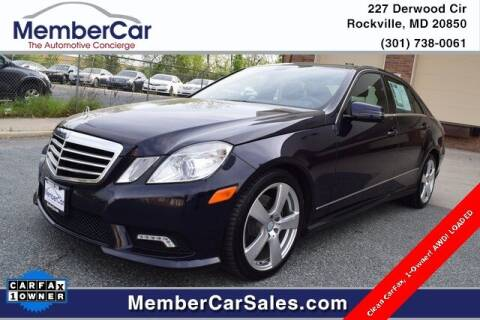 2011 Mercedes-Benz E-Class for sale at MemberCar in Rockville MD