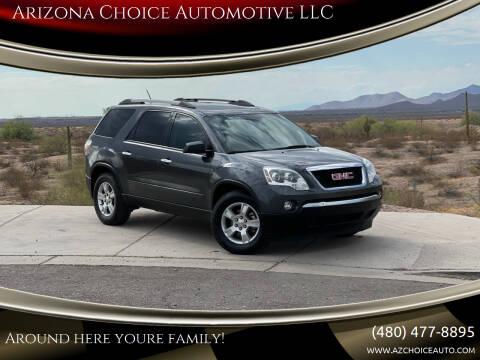 2012 GMC Acadia for sale at Arizona Choice Automotive LLC in Mesa AZ