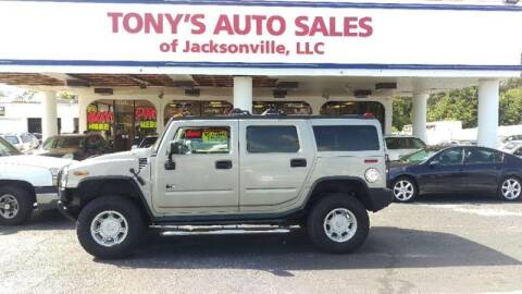 2003 HUMMER H2 for sale at Tony's Auto Sales in Jacksonville FL