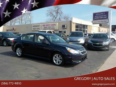 2013 Subaru Legacy for sale at Gregory J Auto Sales in Roseville MI