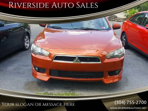 2010 Mitsubishi Lancer for sale at Riverside Auto Sales in Saint Albans WV