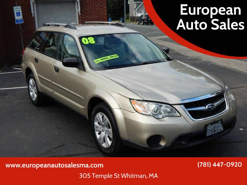 2008 Subaru Outback for sale at European Auto Sales in Whitman MA