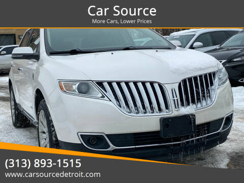 2013 Lincoln MKX for sale at Car Source in Detroit MI
