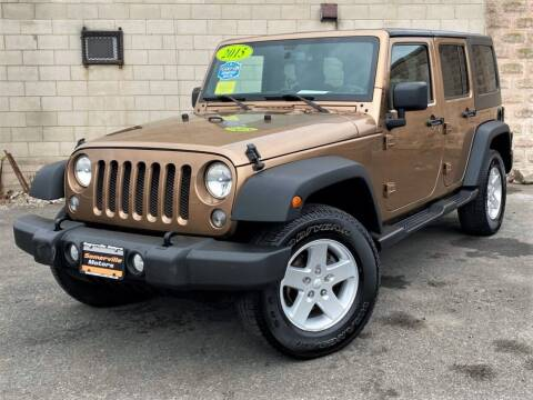 2015 Jeep Wrangler Unlimited for sale at Somerville Motors in Somerville MA