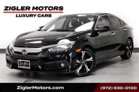 2016 Honda Civic for sale at Zigler Motors in Addison TX