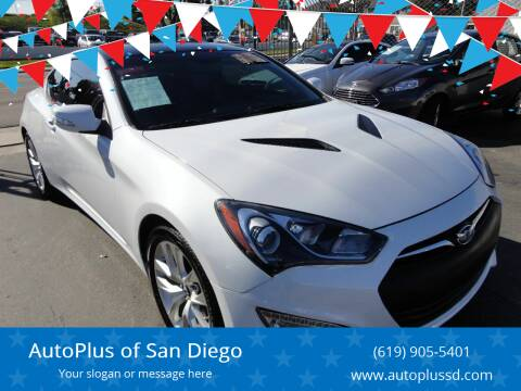 2015 Hyundai Genesis Coupe for sale at AutoPlus of San Diego in Spring Valley CA