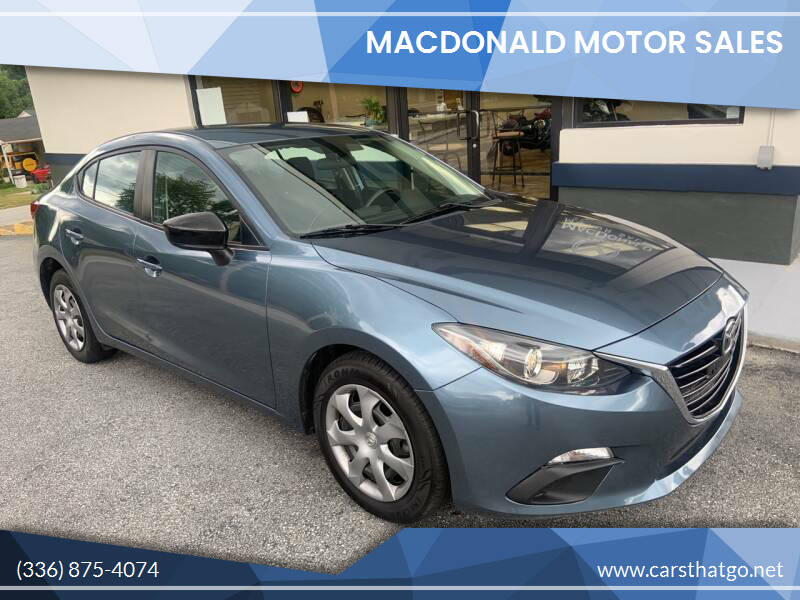 2015 Mazda MAZDA3 for sale at MacDonald Motor Sales in High Point NC