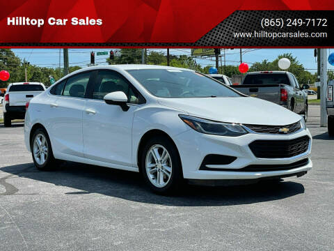 2018 Chevrolet Cruze for sale at Hilltop Car Sales in Knox TN
