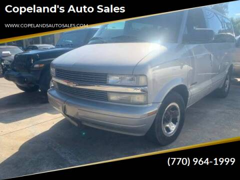 2000 Chevrolet Astro for sale at Copeland's Auto Sales in Union City GA