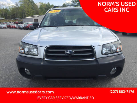 2005 Subaru Forester for sale at NORM'S USED CARS INC in Wiscasset ME
