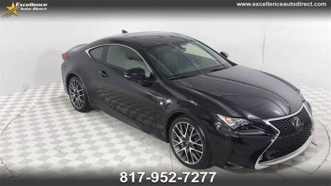2016 Lexus RC 350 for sale at Excellence Auto Direct in Euless TX