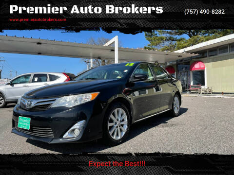 2012 Toyota Camry for sale at Premier Auto Brokers in Virginia Beach VA