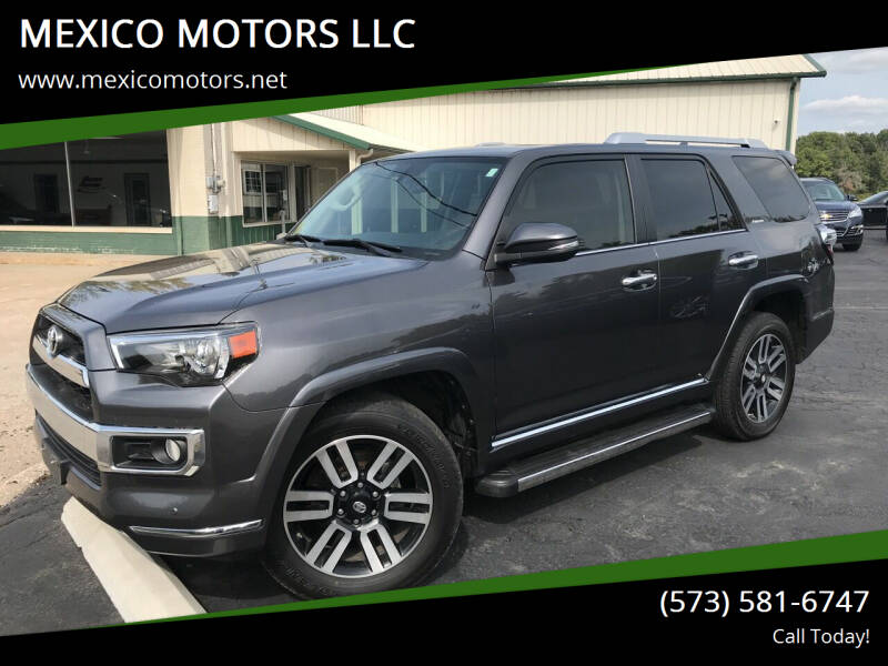2017 Toyota 4Runner for sale at MEXICO MOTORS LLC in Mexico MO