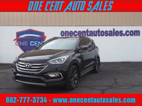 2017 Hyundai Santa Fe Sport for sale at One Cent Auto Sales in Glendale AZ