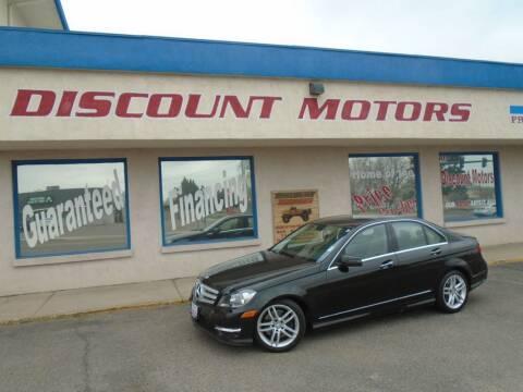 2013 Mercedes-Benz C-Class for sale at Discount Motors in Pueblo CO