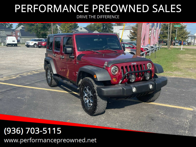 2012 Jeep Wrangler Unlimited for sale at PERFORMANCE PREOWNED SALES in Conroe TX