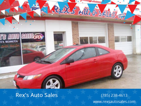 2008 Honda Civic for sale at Rex's Auto Sales in Junction City KS