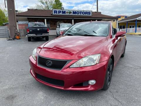 2010 Lexus IS 350C for sale at RPM Motors in Nashville TN