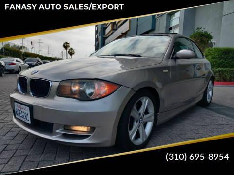 2008 BMW 1 Series for sale at FANASY AUTO SALES/EXPORT in Yorba Linda CA