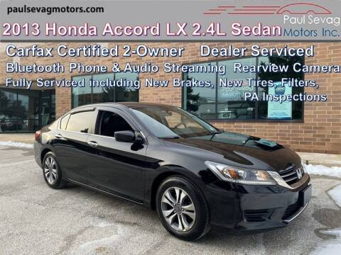 2013 Honda Accord for sale at Paul Sevag Motors Inc in West Chester PA