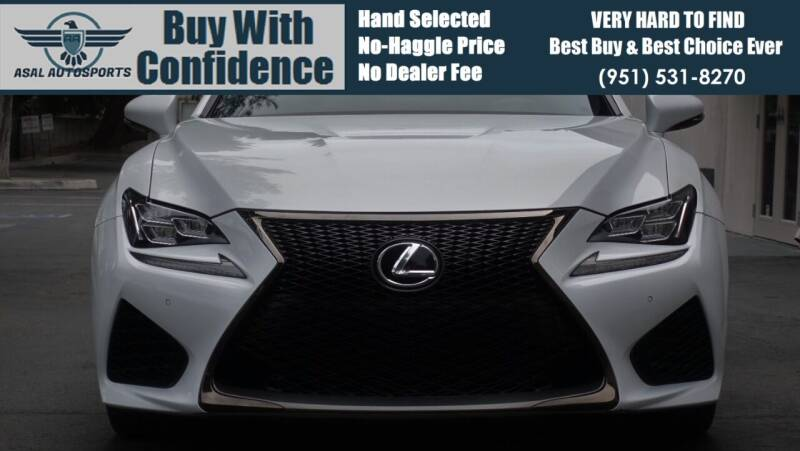 2015 Lexus RC F for sale at ASAL AUTOSPORTS in Corona CA