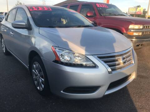 2013 Nissan Sentra for sale at BELOW BOOK AUTO SALES in Idaho Falls ID