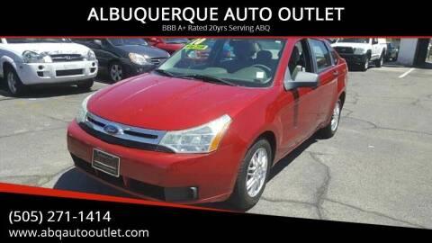 2010 Ford Focus for sale at ALBUQUERQUE AUTO OUTLET in Albuquerque NM