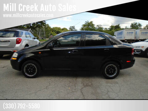 2004 Chevrolet Aveo for sale at Mill Creek Auto Sales in Youngstown OH