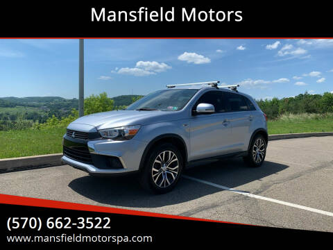 2017 Mitsubishi Outlander Sport for sale at Mansfield Motors in Mansfield PA