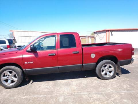 2008 Dodge Ram Pickup 1500 for sale at BIG 7 USED CARS INC in League City TX