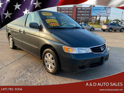 2003 Honda Odyssey for sale at A & D Auto Sales in Joplin MO