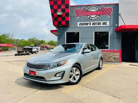 2015 Kia Optima Hybrid for sale at Chema's Autos & Tires in Tyler TX