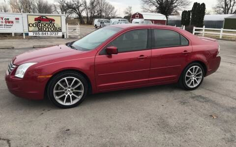 2008 Ford Fusion for sale at Cordova Motors in Lawrence KS