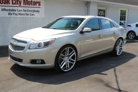 2013 Chevrolet Malibu for sale at Oak City Motors in Garner NC