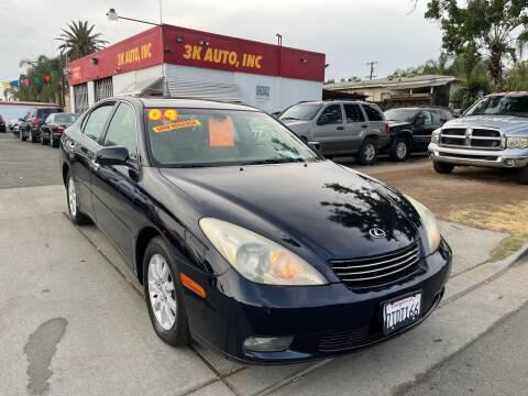 2004 Lexus ES 330 for sale at 3K Auto in Escondido CA