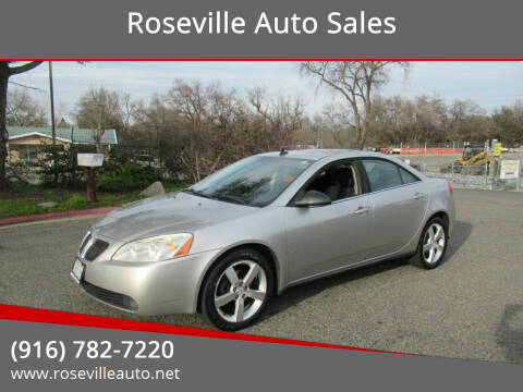 2008 Pontiac G6 for sale at Roseville Auto Sales in Roseville CA